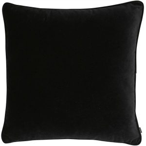 Luxe Black Velvet Cushion