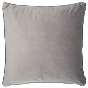 Luxe Grey Velvet Cushion