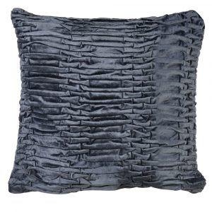 Midnight Blue Ruffle Cushion