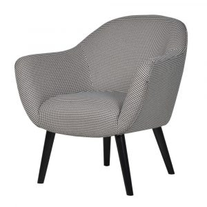 Monochrome Houndstooth Curved Chair
