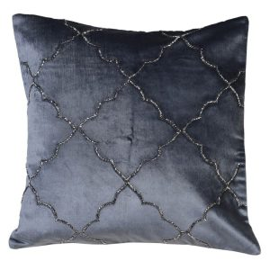 Morrocan Midnight Blue Embroidered Cushion