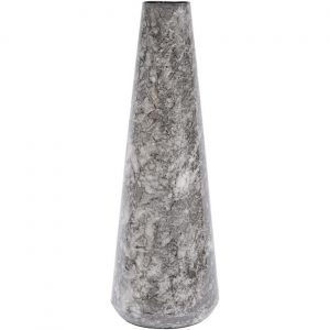 Octavia Marble Effect Black Small Cylindrical Vase