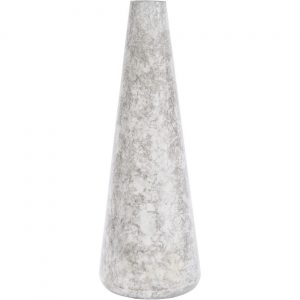 Octavia Marble Effect White Large Cylindrical Vase