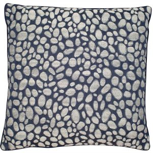 Pebbles Navy Cushion