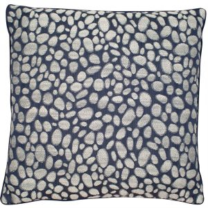 Pebbles Navy Cushion Large