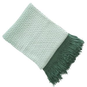 Rhine Green Mint Ombre Throw