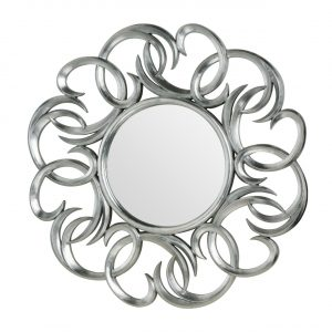 Silver Swirls Wall Mirror