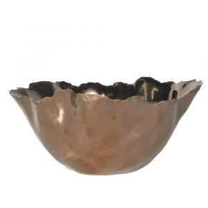 Small Wave Edge Copper Bowl