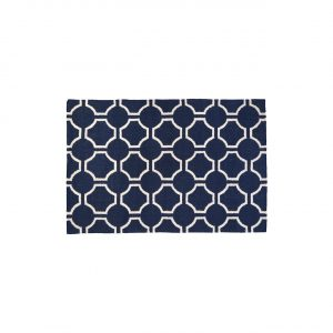 Beach Navy Blue And White Rug 180cm x 120 cm