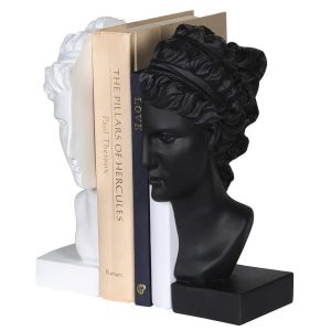White and Black Female Bust Bookends